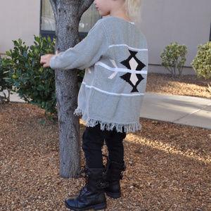Other - Grey Fringe Sweater